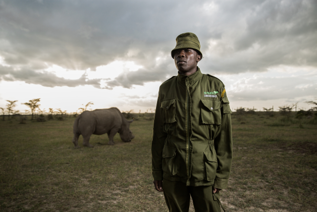 James has been a rhino caretaker at Ol Pejeta for four years.