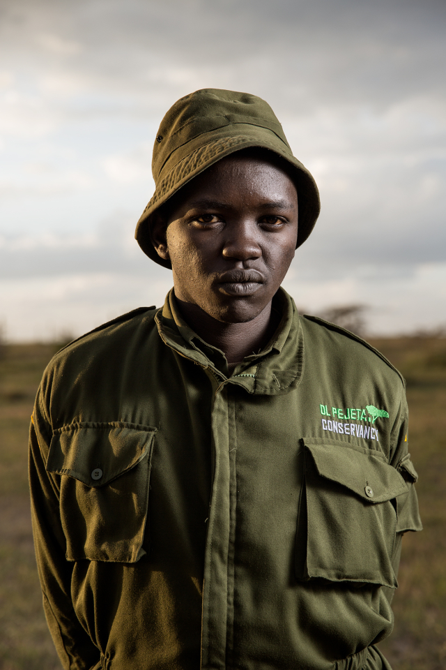 Rhino caretaker at Ol Pejeta.