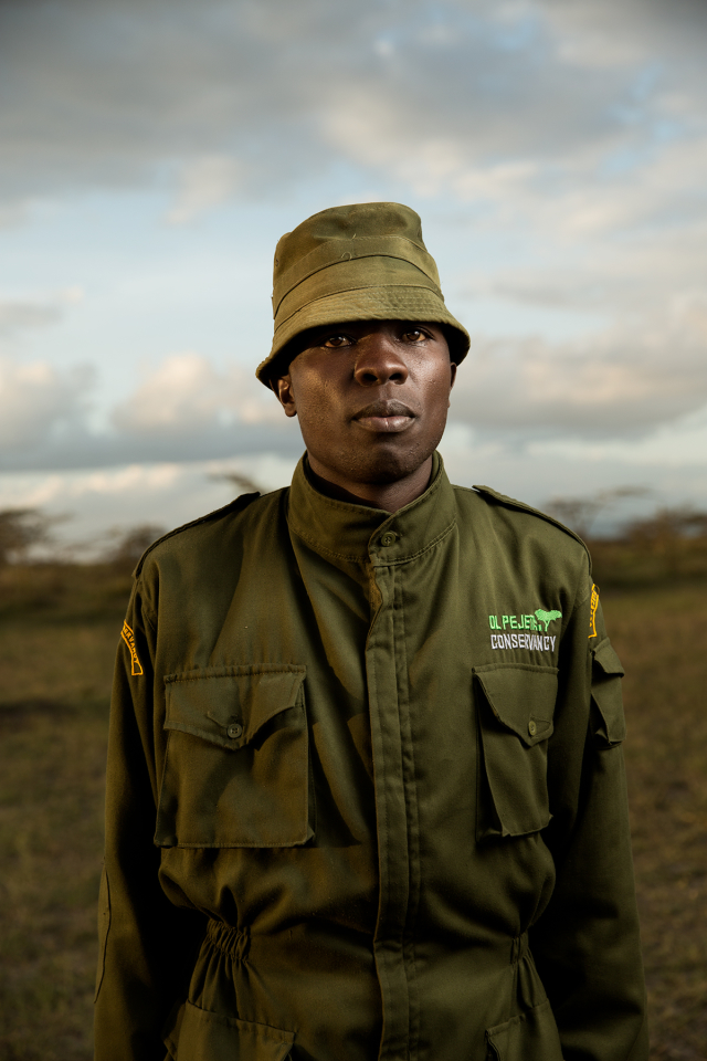 Rhino caretaker at Ol Pejeta