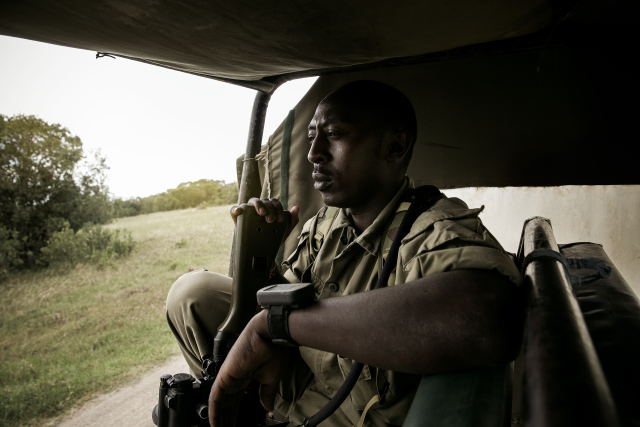 Paul Njogu is a part of the Kenya Police Reservist (KPR) protection squad.  Rangers with this status are on the front line against poachers.